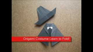 Paper Folding Origami Witch Costume
