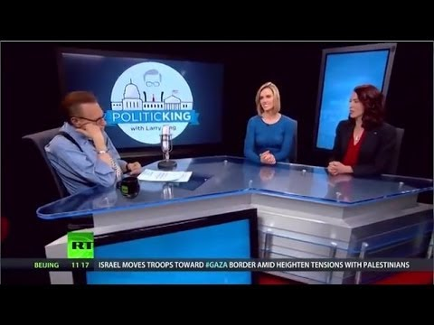 "Larry King Faces Off with Abby Martin on ""Dinosaur Media"""