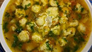 Обалденный суп с галушками !Очень вкусно !