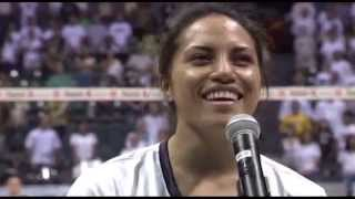 Tai Manu-Olevao Sings National Anthem/Hawai'i Pono'i on Senior Night