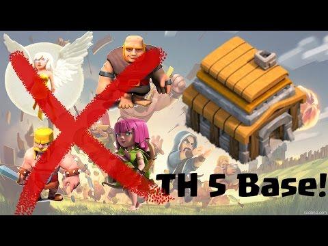 TH5 Base I Anti Giant Healer I Anti Giant Barch I Best TH5 Farming & War Base I After Update 2016