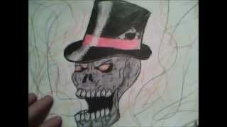 How to: Draw a skull wearing a top hat