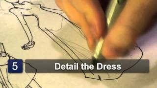 How to Draw Women in Dresses