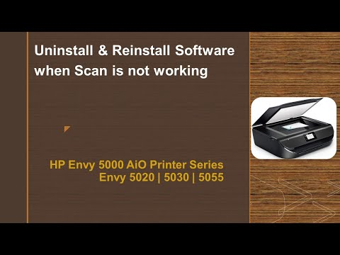 HP Envy 5055| 5020| 5030 : Uninstall and reinstall Software