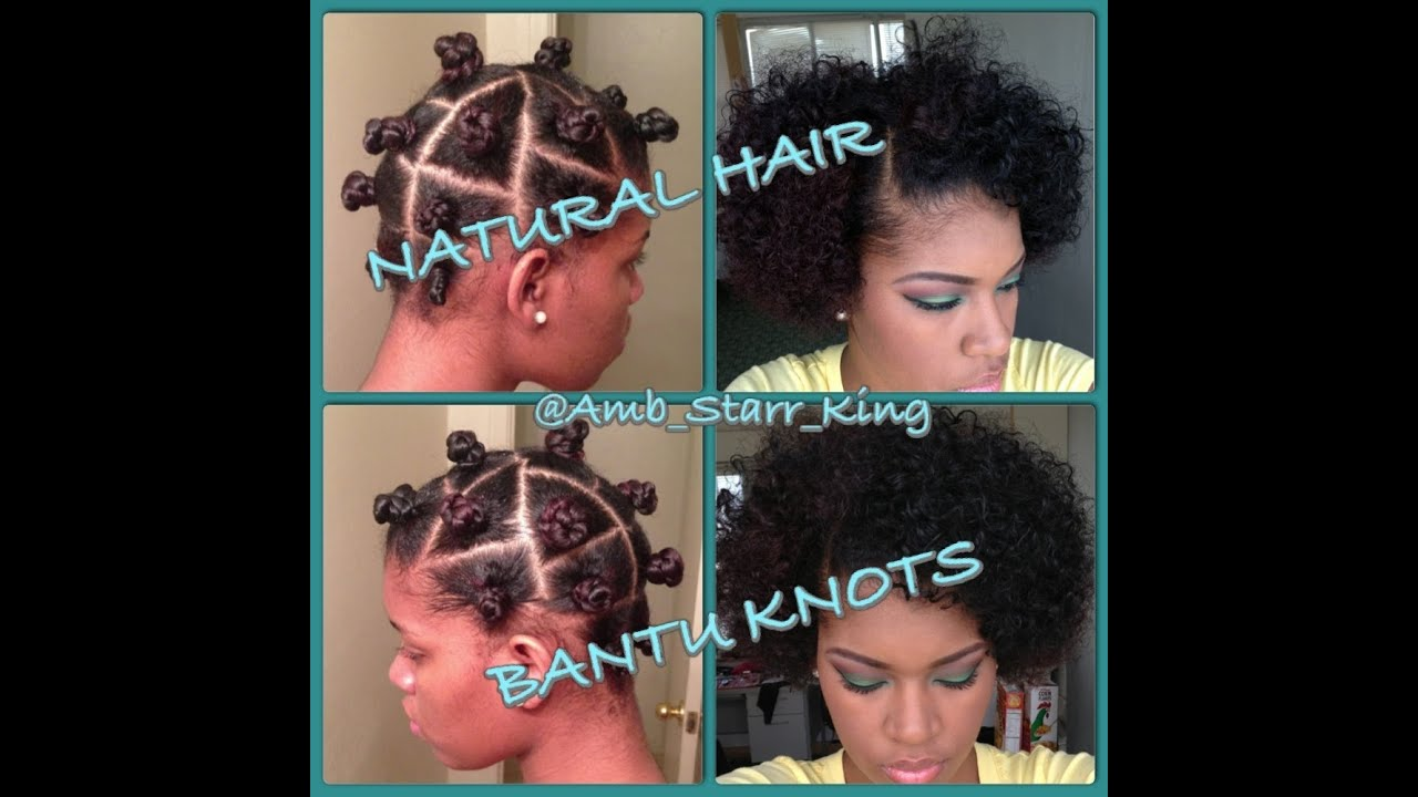 Bantu Knots Tutorial On Short Natural Hair
