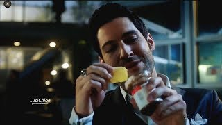 Lucifer 3x04 Lucifer Eating Chips - They Found the Weapon Season 3 Episode 4 S03E04