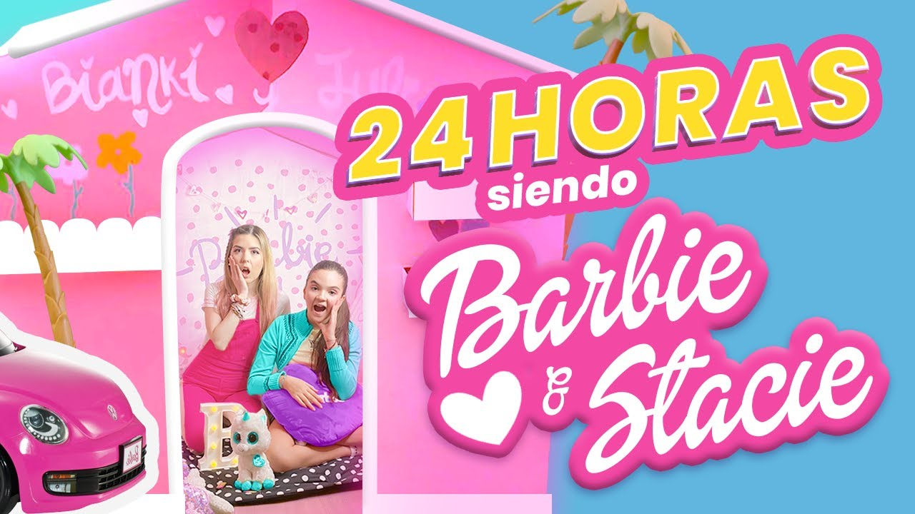BIANKI PASA 24 HRS SIENDO BARBIE y STACIE!! - LES APARECE UN FANTASMA!! 👻  || Bianki Place ♡
