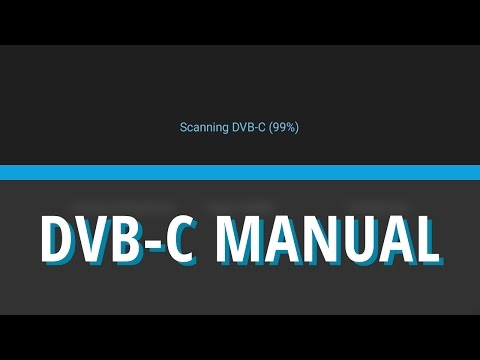 Scan DVB-C channel in manual mode - WeOS 1.0 [WeTek Tutorials]