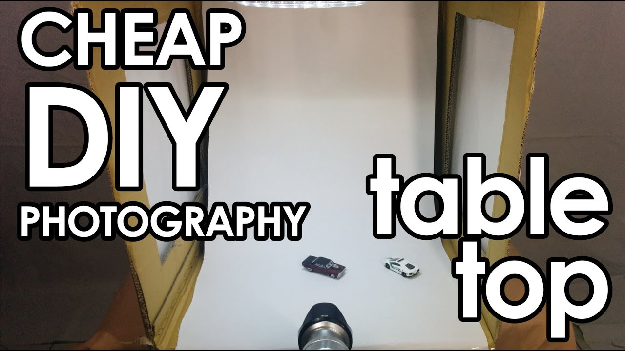 Tutorial how to make a cheap diy photography light studio for Cheap table top