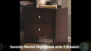 Serenity Merlot Bed Set By True Contemporary