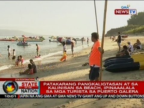 SONA: Patakarang pangkaligtasan at sa kalinisan sa beach, ipinaaalala sa mga turista