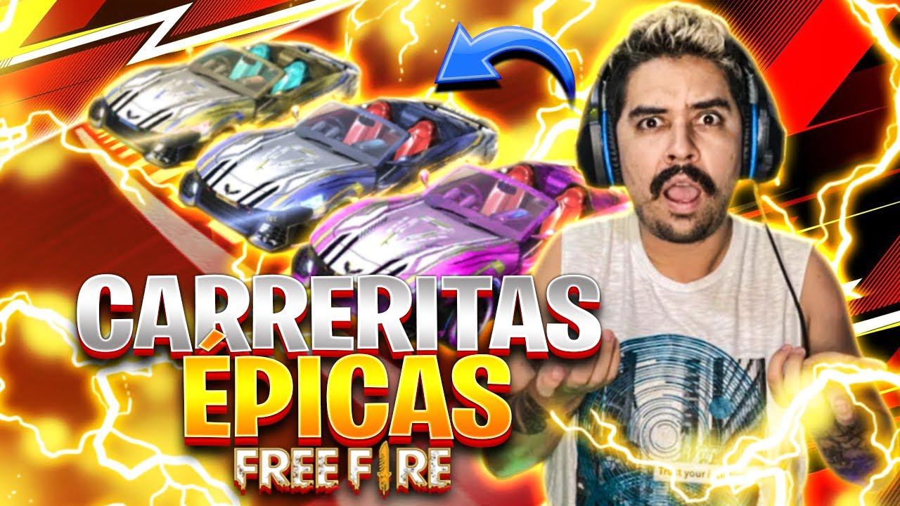 JUGANDO CARRERITAS DE AUTOS EN FREE FIRE