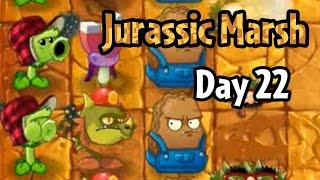 Plants vs Zombies 2 - Jurassic Marsh Day 22: Last Stand (Demo Gameplay)