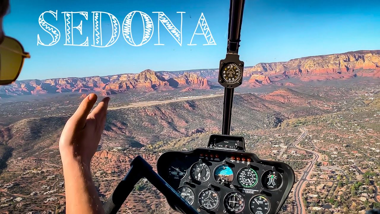 Private helicopter flight to from Tucson to Sedona! Phoenix Class Bravo transition.