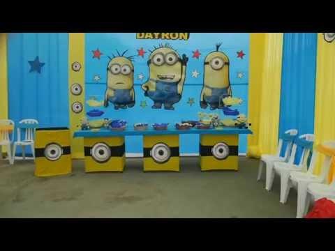 Fiestas Infantiles - Decoracion Minions - Travesuras Kids - YouTube