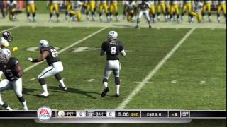 Madden 11 Gameplay (PS3) - Oakland Raiders vs Pittsburgh Steelers