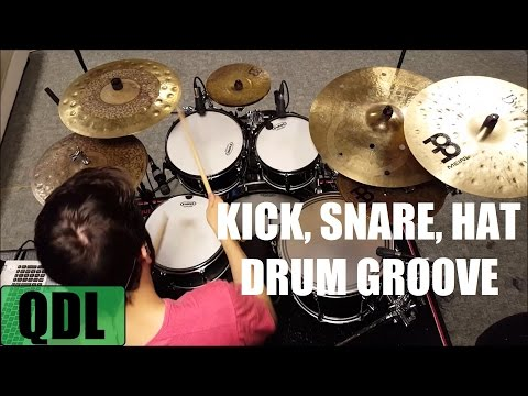 Kick, Snare, Hat Groove - QUICK DRUM LESSON