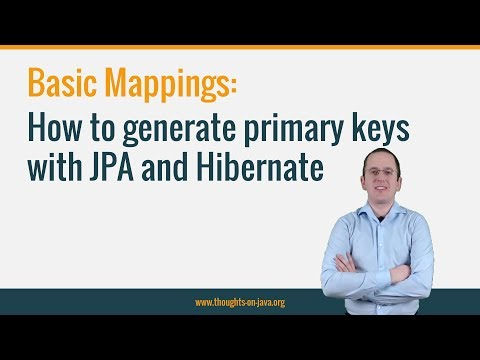 How to generate primary keys with JPA and Hibernate