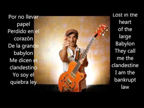 Manu Chao - Clandestino Letras y acordes / Lyrics and chords Spanish / English Subtitles