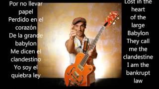 manu chao clandestino letras y acordes lyrics and chords spanish english subtitles