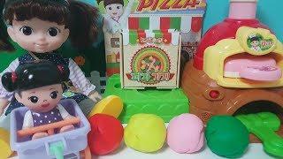 콩순이 피자가게 서프라이즈 장난감 플레이도우 놀이 [정…
