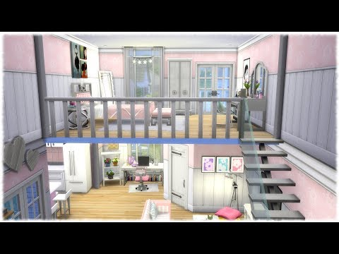 The Sims 4: Speed Build // GIRLY LOFT // NO CC