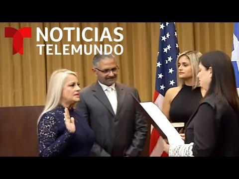 EN VIVO: Wanda Vázquez asume como gobernadora de Puerto Rico | Noticias Telemundo