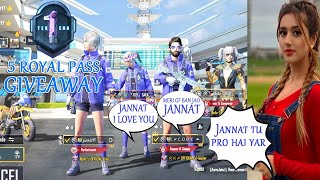PRANKING WITH RANDOM BEAUTIFUL GIRLS - 5 ROYAL PASS GIVEAWAY - PUBG MOBILE PAKISTAN #Treding #PUBG
