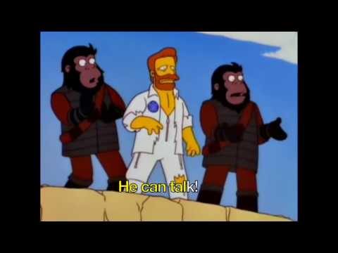 The Simpsons Karaoke - Planet Of The Apes musical - Dr. Zaius