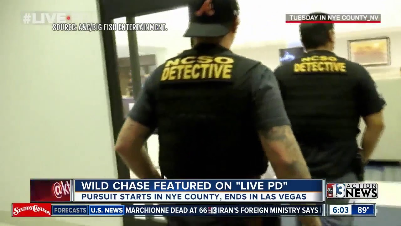Wild chase from Nye County to Las Vegas caught on camera