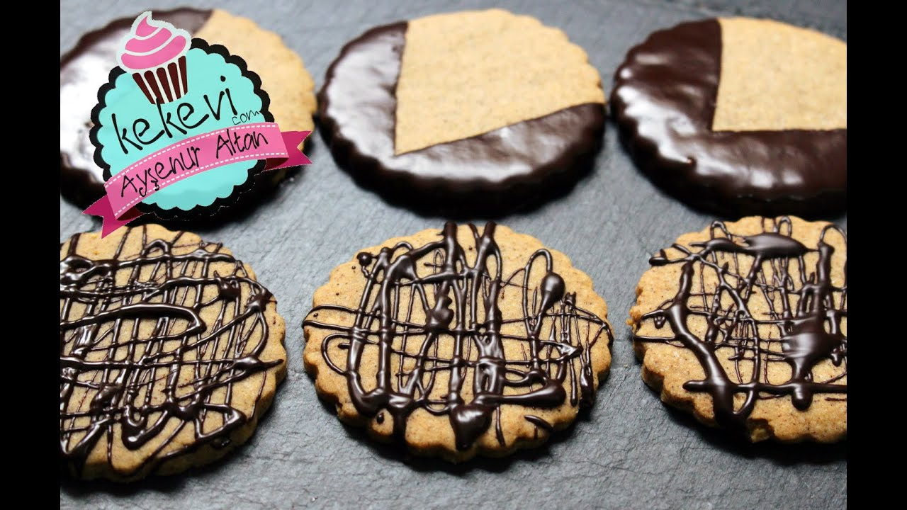 Kahveli Bitter Çikolatalı Bisküvi