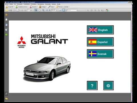 1998 mitsubishi galant service manuals 2 volume set