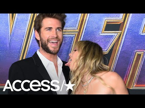Miley Cyrus & Liam Hemsworth Get Wildly Flirty At 'Avengers: Endgame' Premiere   Access