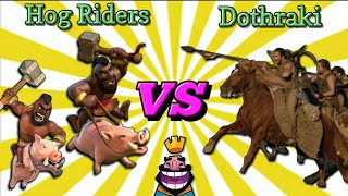 Hog Raiders VS Dothraki 😲 | Romania, Clash Royale, Clash of Clans, Game Of Thrones