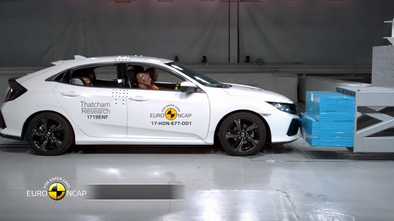 honda civic crash test euro ncap | rating - youtube