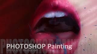 [포토샵 그림]실사느낌 얼굴그리기/패션일러스트 입술 페…