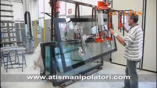 Glass and windows handling manipulator - manipolatore pneumatico vetro e finestre ATIS