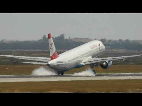 Emergency Landing! A321 Flap Problem-High Speed Landing|Austrian A321-211|Hard Landing|Larnaca Intl