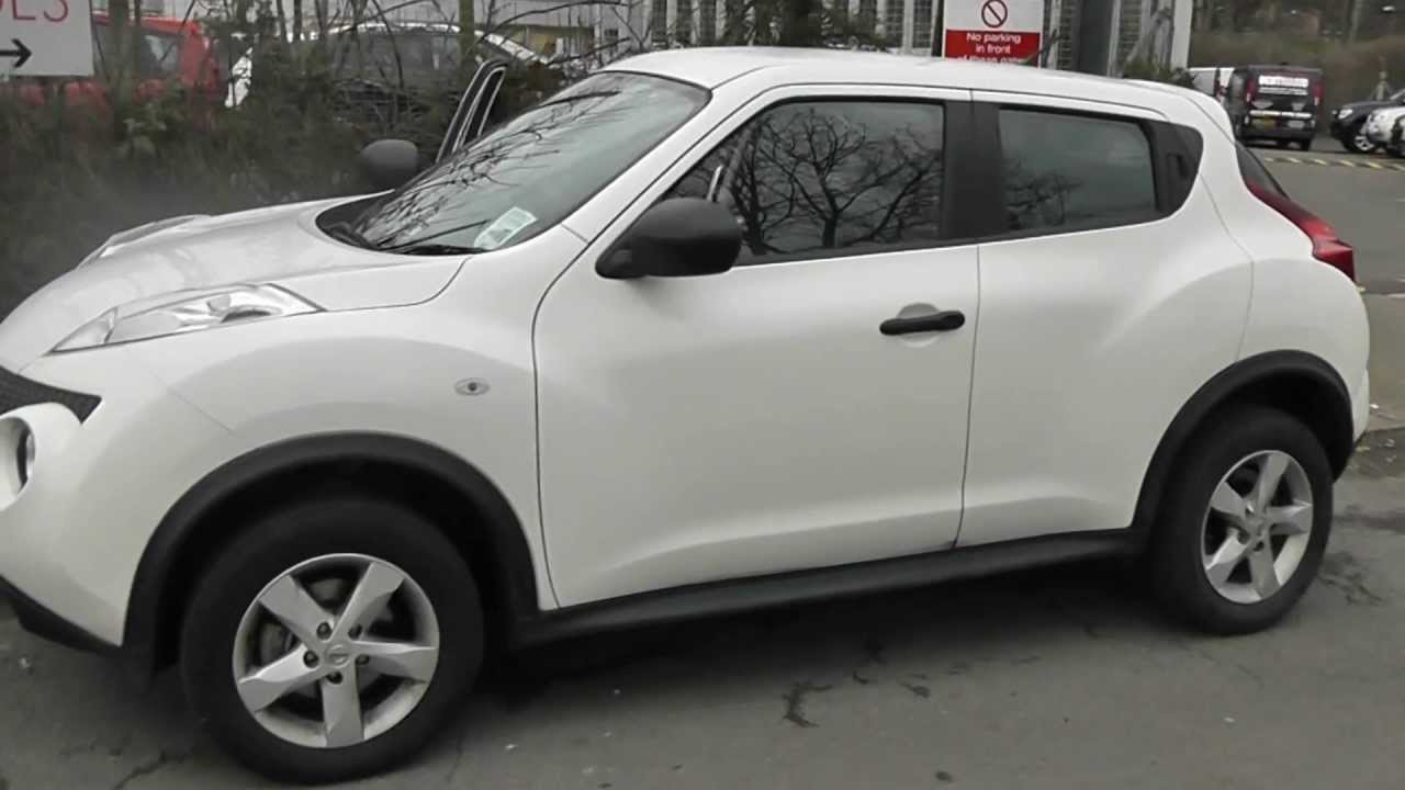 used nissan juke visia in arctic white at wessex garages