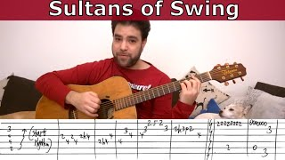 Fingerstyle Tutorial: Sultans of Swing - Guitar Lesson w/ TAB