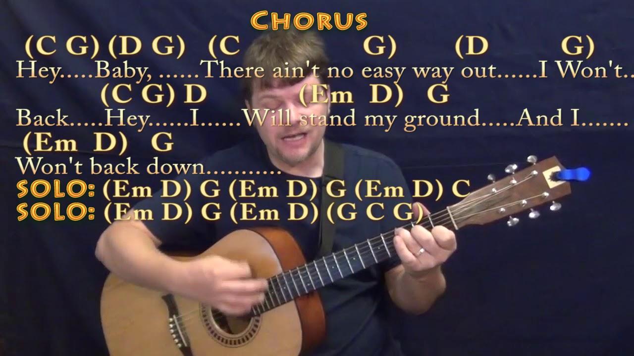 I Won't Back Down Tom Petty Strum Guitar Cover Lesson with Chords/Lyrics    Munson