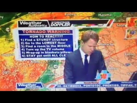 WATCH Tupelo Weatherman Flees Newsroom as Tornado Approaches Station (VIDEO)