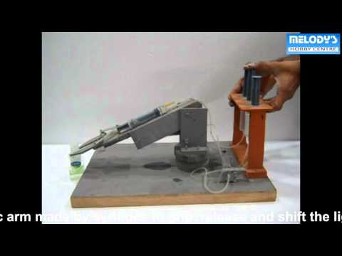 SYRINGE BASED HYDRAULIC ROBOTIC ARM, melodyprojects.com, manoj kumar magoo