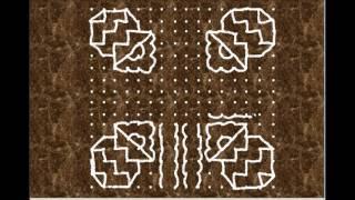 Pongal kolam/Kolangal/பொங்கல் கோலம் /16 புள்ளி 16 வரிசை/16 pulli kolam/16 16 1
