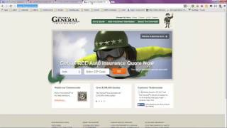 Auto Insurance Quick Quote -- No Personal Information Required