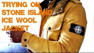 Trying on Stone Island Ice Wool Jacket | Full Review and Try On | TheHoxtonTrend