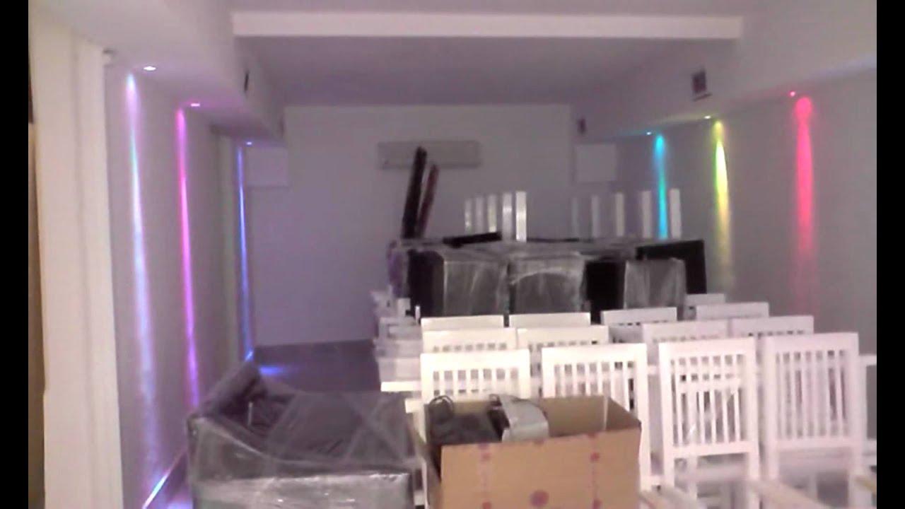 Ambientacion en led para un salon de fiestas youtube - Focos salon ...