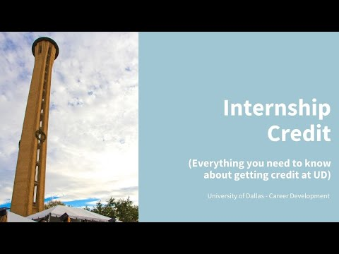 Everything you need to know about internship credit at UD