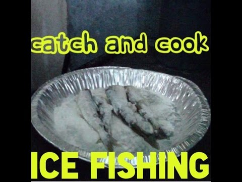Catch and cook ice fishing challenge youtube for Catch and cook fish