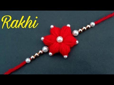 How To Make Rakhi//At Home//Rakhi Making// Useful & Easy